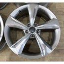 4x Original Audi Q5 80A 7x19 Zoll ET34 Felgen 80A601025K silber