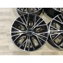 4x Original Audi A7 4G 9x20 Zoll ET37 Felgen 4G8601025AT schwarz BiColor