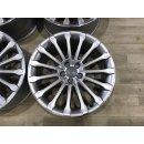 4x Original Audi A8 4H 9x19 Zoll ET33 Felgen 4H0601025AQ silber