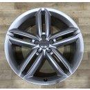 1x Original Audi A6 4G Allroad 8,5x20 Zoll ET43 Felge 4G96010225G silber