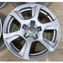 4x Original Audi A4 8K S4 B8 7,5x16 Zoll ET45 Felgen 8K0601025F silber Alufegen