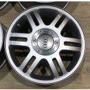 4x Original Audi A3 8L 7x16 Zoll ET44,5 Felgen 8L0601025H Alufelgen silber