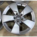 4x Original Audi TT TTS 8S 7x17 Zoll ET47 Felgen 8S0601025J Alufelgen
