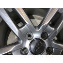 4x Original Audi A3 S3 8P 7,5x17 Zoll ET56 Felgen 8P0601025BQ Alufelgen