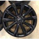 4x Original Audi A7 S7 4G8 8,5x19 Zoll ET32 Felgen 4G8601025B Alufelgen schwarz