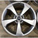 4x Original Audi A3 S3 RS3 8V 8,5x19 Zoll ET53 Felgen 8V0601025FC titan Alufelgen