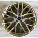 4x Original Audi R8 V10 Plus Spyder S4 8,5/11x20 Zoll ET42/47 Felgen 4S0601025AC/AB Alufelgen Gold