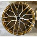 4x Original Audi R8 V10 Plus Spyder 4S 20  Zoll Felgen 4S0601025AC/AB GOLD Alufelgen