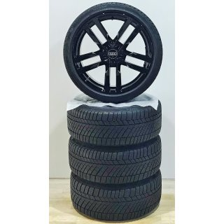 4 x Original Audi TT TTS 8S 9x19 Zoll ET52  Winterreifen 8S0601025F 245/35  Reifen  schwarz