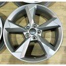 4x Original Audi Q3 83A F3 7x19 Zoll ET43 Felgen 83A601025N Alufelgen