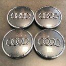 4x Original Audi Nabendeckel Nabenkappen Felgendeckel...