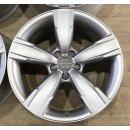 4x Original Audi A4 S4 8K B8 8x18 Zoll ET26 Felgen 8K0601025BM Alufelgen