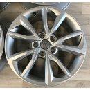 4x Original Audi TT TTS 8S 7x17 Zoll ET47 Felgen 8S071497 Alufelgen